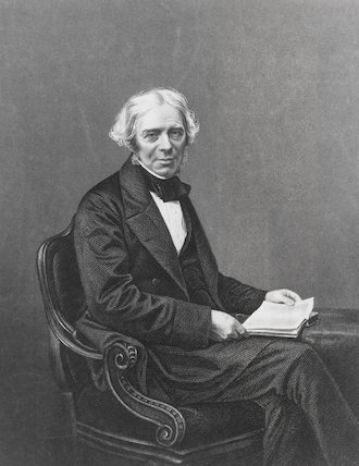 Michael Faraday (1791-1867), English physicist.