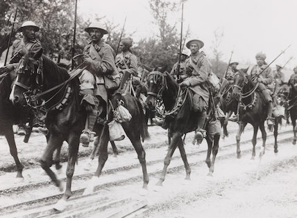 Indian Cavalry On The March During The British Advance In