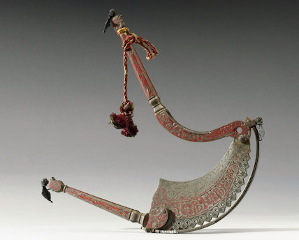 Nut cutter with handles, 19th century.