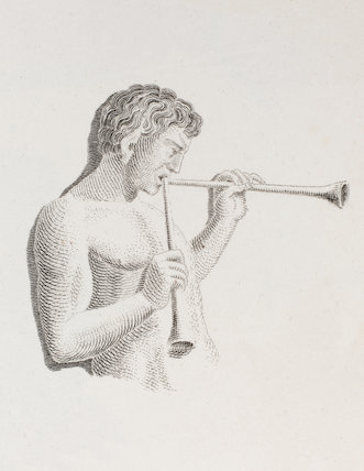 Bacchanal playing on two Flutes of the same pitch: Rees' Cyclopaedia