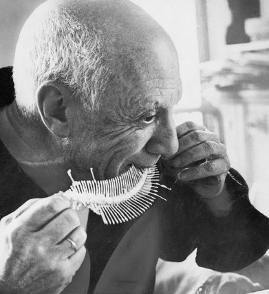 Pablo Picasso and fishbones