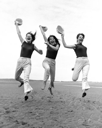 Karlin Triplets-run on the beach - 1966