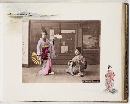 'Geisha's Dancing', about 1895