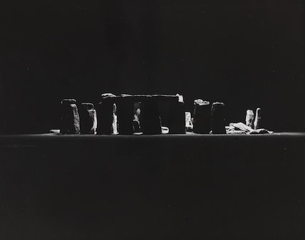 Stonehenge illuminated with a 5000 watt-second electronic flash lamp....