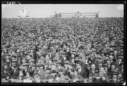 The crowd at Arsenal versus Sheffield Wednesday, 1933