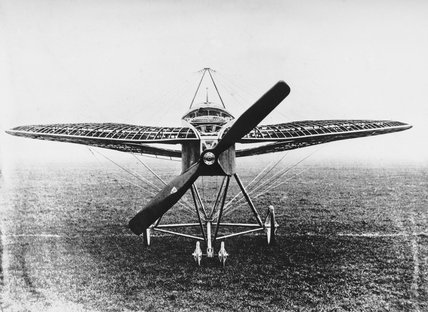 Lee-Richards annular monoplane No.1, November 1913. Complete except for its fabric covering. It was developed during the period 1911-1914.