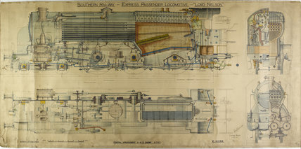 Lord Nelson- General arrangement 4-6-0 Engine