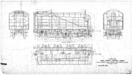 LNER Eight Wheels Corridor Tender.