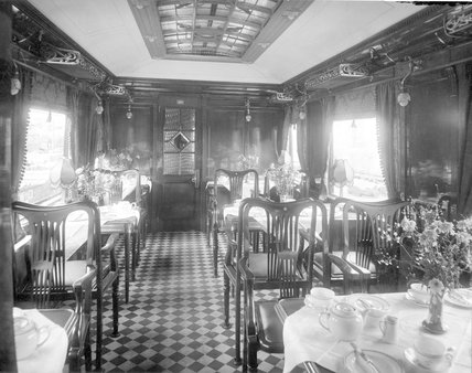 Glasgow & South Western Railway restaurant car No 3, 1910.