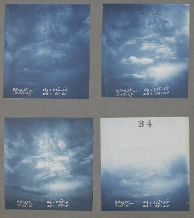 Cloud formations taken at Kew Observatory in 1887.