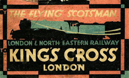 Flying Scotsman, Luggage Label, Kings Cross