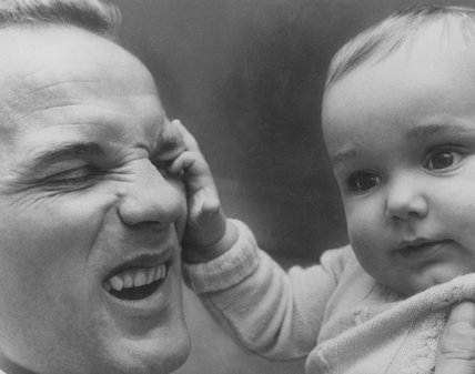 Henry Cooper Heavyweight Boxer with his son