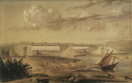 Watercolour of the Ouse Bridge on the York and Scarborough Railway