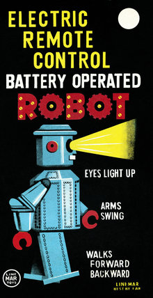 Electric Remote Control Battery Operated Robot 1950