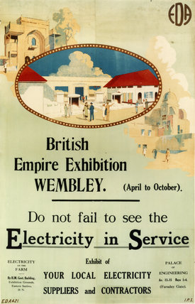 'Electricity in Service' stand at the British Empire Exhibition,Wembley, 1924.
