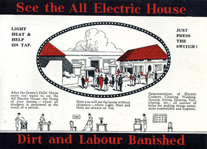 Electrical Development Association all-electric house at the British Empire Exhibition at Wembley, 1924.