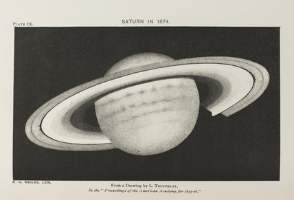 Plate IX: Saturn in 1874. From a drawing by L. Trouvelot.
