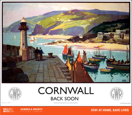 New Lockdown Travel Poster - Cornwall