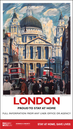 New Lockdown Travel Poster - London 1