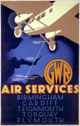 'GWR Air Services', GWR poster, 1933.