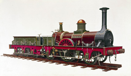 'Jenny Lind' London Brighton & South Coast Railway locomotive no 60, 1847.
