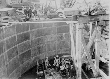 Constructing the Blackwall Tunnel, London, 9 March 1895.