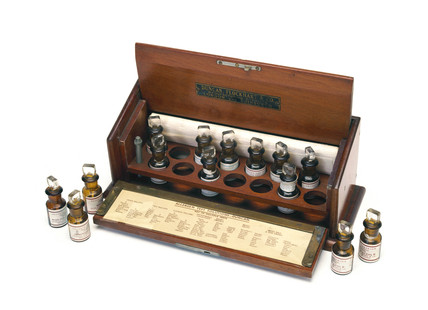 Skin testing set for allergies, 1871-1930.