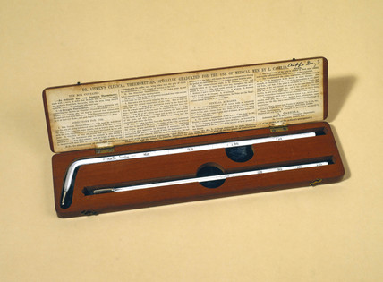 Dr Aitken's clinical thermometer, 1867-1885.