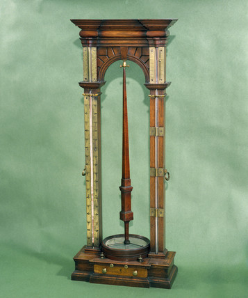 Barometer, thermometer and hygrometer combined, 1739.