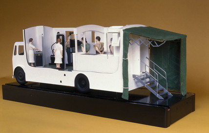 Mobile X-ray van, English, c 1955.