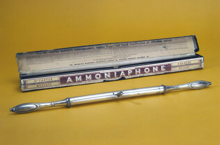 Ammoniaphone, 'for voice cultivation by chemical means', English, 1871-1900.