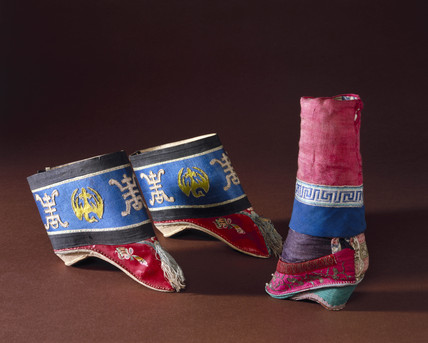 Shoes for women with bound feet, Chinese, 1870-1910.