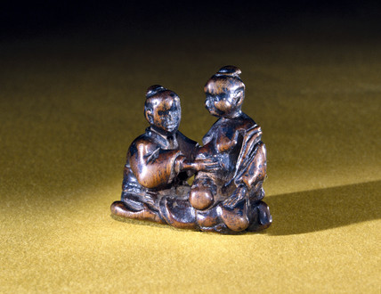 Netsuke showing a birth scene, Japanese, 18th-19th century.