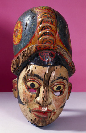 Painted face mask, Sinhalese from Sri Lanka.