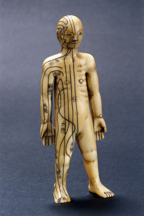 Netsuke inscribed with acupuncture meridians, Japanese, 18th-19th century.