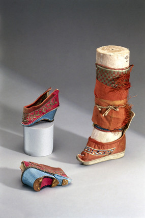 Slippers for women with bound feet, Chinese, 19th century.