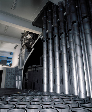 View of a reconstruction of an Advanced Gas-cooled Reactor (AGR), 1980s.