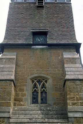 Electric turret clock by Shepherd, St Peter's Church, 1883.