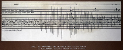 Seismograph trace of the Tokyo earthquake, 1923.