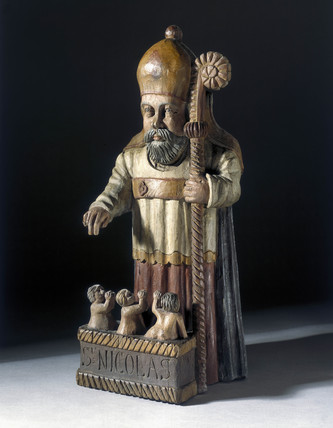 Statue of St Nicholas, France, 17th century.