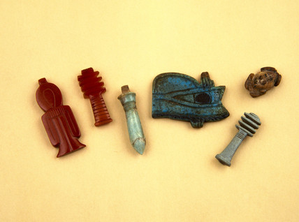 Group of Egyptian amulets, 4000-30 BC.
