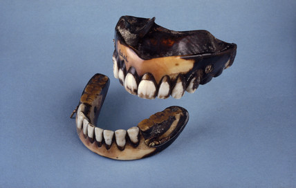 Full upper and lower dentures, 1801-1870.
