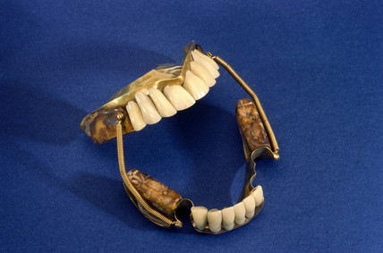 Partial denture set, c 1840-1860.