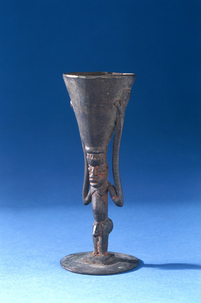 Bronze poison cup, West Africa, c 1870-1920.