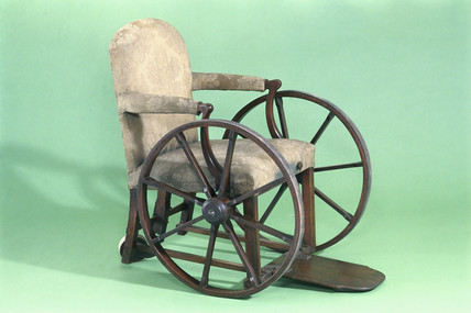 Wheelchair, 1750-1850.