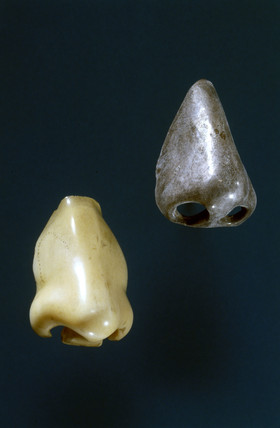 Two artificial noses, 17th-18th century.