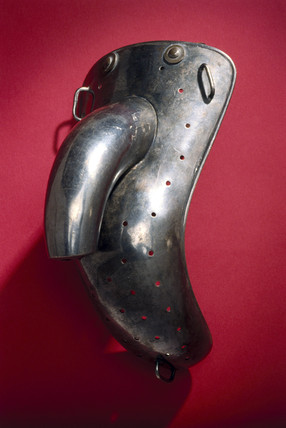 Male anti-masturbation device, British, 1871-1930.