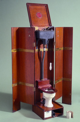 Model of Jenning's patent water closet, c 1900.