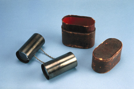 Priestly-Smith fusion tubes and leather case, 1895-1898.