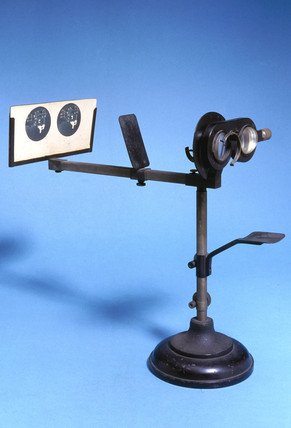 Polack stereoscope on stand, c 1920-1950.